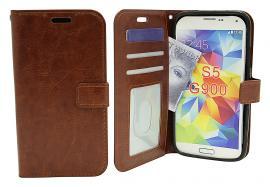 billigamobilskydd.se Crazy Horse Lompakko Samsung Galaxy S5 / S5 Neo (G900F / G903F)