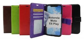 billigamobilskydd.se Crazy Horse Lompakko Motorola Moto E6 Play