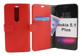 billigamobilskydd.se Jalusta Lompakkokotelo Nokia 5.1 Plus