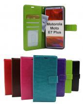 billigamobilskydd.se Crazy Horse Lompakko Motorola Moto E7 Plus