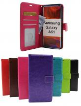 billigamobilskydd.se Crazy Horse Lompakko Samsung Galaxy A51 (A515F/DS)