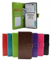 billigamobilskydd.se Crazy Horse Lompakko Samsung Galaxy A21s (A217F/DS)