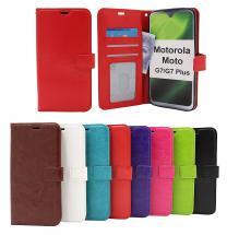 billigamobilskydd.se Crazy Horse Lompakko Motorola Moto G7 / Moto G7 Plus
