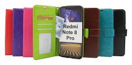 billigamobilskydd.se Crazy Horse Lompakko Xiaomi Redmi Note 8 Pro