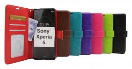 billigamobilskydd.se Crazy Horse Lompakko Sony Xperia 5