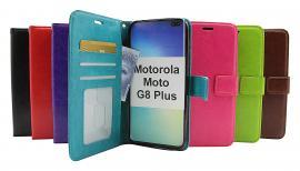 billigamobilskydd.se Crazy Horse Lompakko Motorola Moto G8 Plus