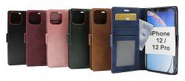 billigamobilskydd.se Lyx Standcase Wallet iPhone 12 / 12 Pro (6.1)