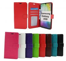 billigamobilskydd.se Crazy Horse Lompakko Samsung Galaxy A50 (A505FN/DS)