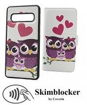 billigamobilskydd.se Skimblocker Design Magneettilompakko Samsung Galaxy S10 (G973F)
