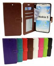 billigamobilskydd.se Crazy Horse Lompakko Nokia 5