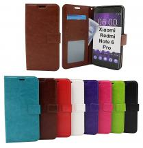 billigamobilskydd.se Crazy Horse Lompakko Xiaomi Redmi Note 6 Pro