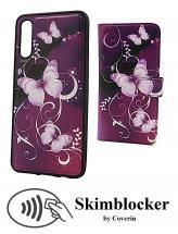 billigamobilskydd.se Skimblocker Design Magneettilompakko Samsung Galaxy A50 (A505FN/DS)