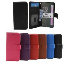 billigamobilskydd.se New Jalusta Lompakkokotelo Sony Xperia X (F5121)