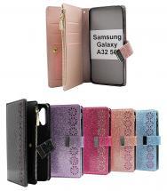 billigamobilskydd.se XL Standcase Glitterwallet Samsung Galaxy A32 5G (SM-A326B)