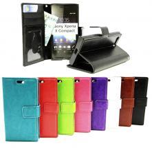 billigamobilskydd.se Crazy Horse Lompakko Sony Xperia X Compact (F5321)