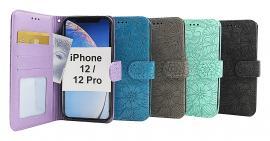 billigamobilskydd.se Flower Standcase Wallet iPhone 12 / 12 Pro (6.1)