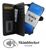 CoverIn Skimblocker XL Magnet Wallet Nokia 3.4