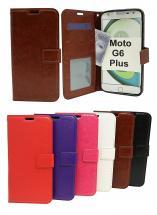 billigamobilskydd.se Crazy Horse Lompakko Motorola Moto G6 Plus
