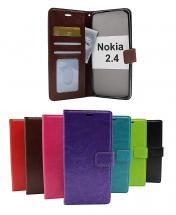 billigamobilskydd.se Crazy Horse Lompakko Nokia 2.4