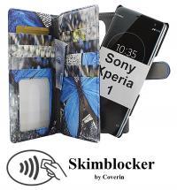 CoverIn Skimblocker XL Magnet Designwallet Sony Xperia 1 (J9110)