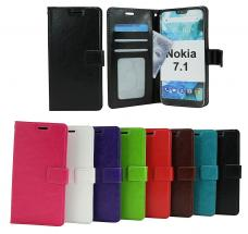 billigamobilskydd.se Crazy Horse Lompakko Nokia 7.1