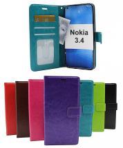 billigamobilskydd.se Crazy Horse Lompakko Nokia 3.4
