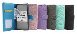 billigamobilskydd.se Flower Standcase Wallet Samsung Galaxy S21 Plus 5G (G996B)