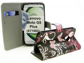 billigamobilskydd.se Kuviolompakko Lenovo Moto G5 Plus (XT1683)