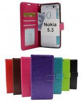 billigamobilskydd.se Crazy Horse Lompakko Nokia 5.3