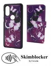 CoverIn Skimblocker Design Magneettilompakko Motorola One Vision