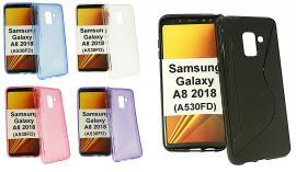 billigamobilskydd.se S-Line TPU-muovikotelo Samsung Galaxy A8 2018 (A530FD)