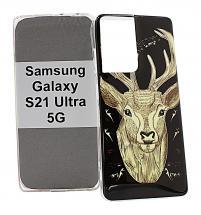 billigamobilskydd.se TPU-Designkotelo Samsung Galaxy S21 Ultra 5G (G998B)