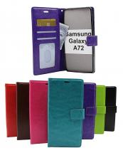 billigamobilskydd.se Crazy Horse Lompakko Samsung Galaxy A72 (A725F/DS)