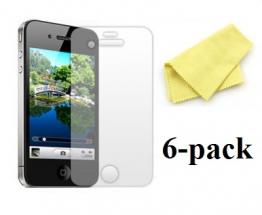 billigamobilskydd.se Kuuden kappaleen näytönsuojakalvopakett iPhone 4/4S