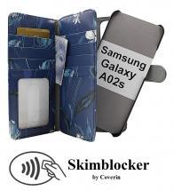 CoverIn Skimblocker XL Magnet Designwallet Samsung Galaxy A02s
