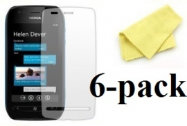 billigamobilskydd.se Kuuden kappaleen näytönsuojakalvopakett Nokia Lumia 710