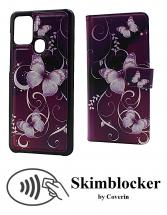 CoverIn Skimblocker Design Magneettilompakko Samsung Galaxy A21s (A217F/DS)