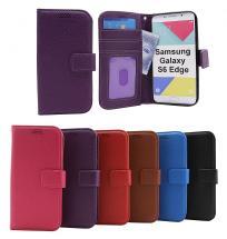 billigamobilskydd.se New Jalusta Lompakkokotelo Samsung Galaxy S6 Edge (G925F)