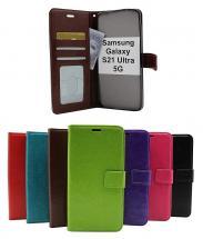 billigamobilskydd.se Crazy Horse Lompakko Samsung Galaxy S21 Ultra 5G (G998B)