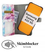 CoverIn Skimblocker Design Magneettilompakko Samsung Galaxy A22 5G (SM-A226B)