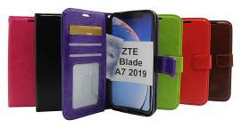 billigamobilskydd.se Crazy Horse Lompakko ZTE Blade A7 2019