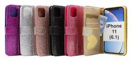 billigamobilskydd.se Standcase Glitter Wallet iPhone 11 (6.1)