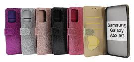billigamobilskydd.se Standcase Glitter Wallet Samsung Galaxy A52 / A52 5G / A52s 5G