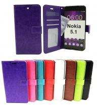 billigamobilskydd.se Crazy Horse Lompakko Nokia 5.1