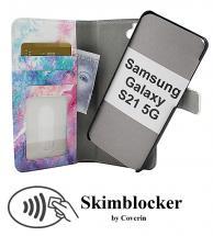 CoverIn Skimblocker Design Magneettilompakko Samsung Galaxy S21 5G (G991B)