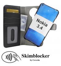 CoverIn Skimblocker Magneettilompakko Nokia 3.4