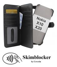 CoverIn Skimblocker XL Magnet Wallet Nokia X10 / Nokia X20