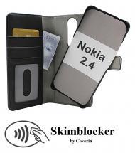 CoverIn Skimblocker Magneettilompakko Nokia 2.4