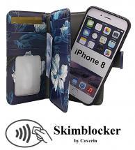 billigamobilskydd.se Skimblocker XL Magnet Designwallet iPhone 8