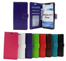 billigamobilskydd.se Crazy Horse Lompakko Nokia 5.1 Plus